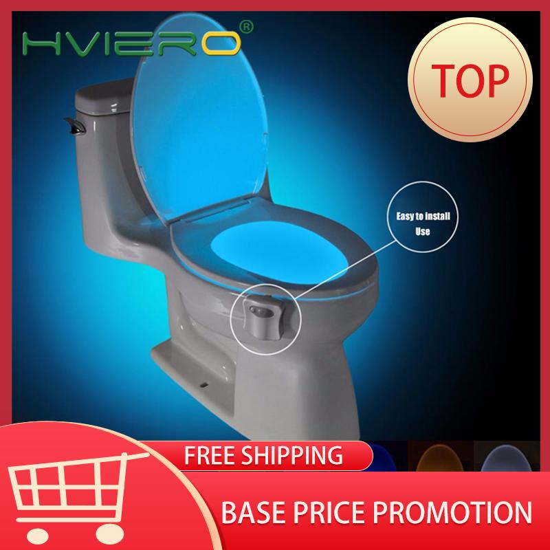 PIR 변기 Led 시트 야간 조명 스마트 모션 센서 8 색 방수 백라이트 변기 루미나리아 램프 화장실