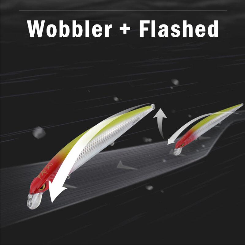 RUNCL 10/13/15ซม.Wobbler 3D Fishing Lure Minnow ประดิษฐ์ Hard เหยื่อ Crankbait ลอยฤดูหนาวตกปลา tackle