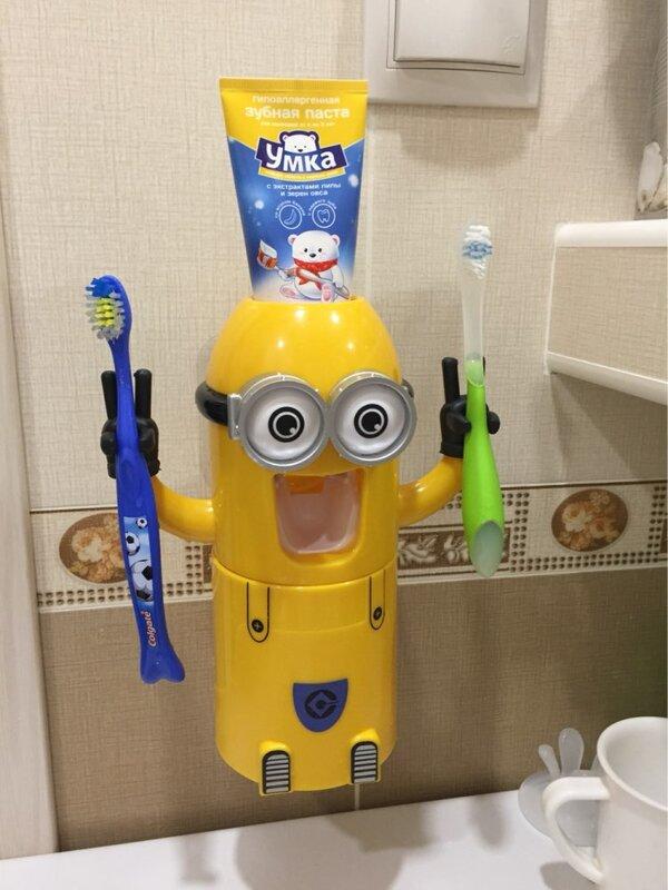 Distributore automatico di dentifricio per prodotti da bagno spremiagrumi carino accessori da bagno Set portaspazzolino per bambini