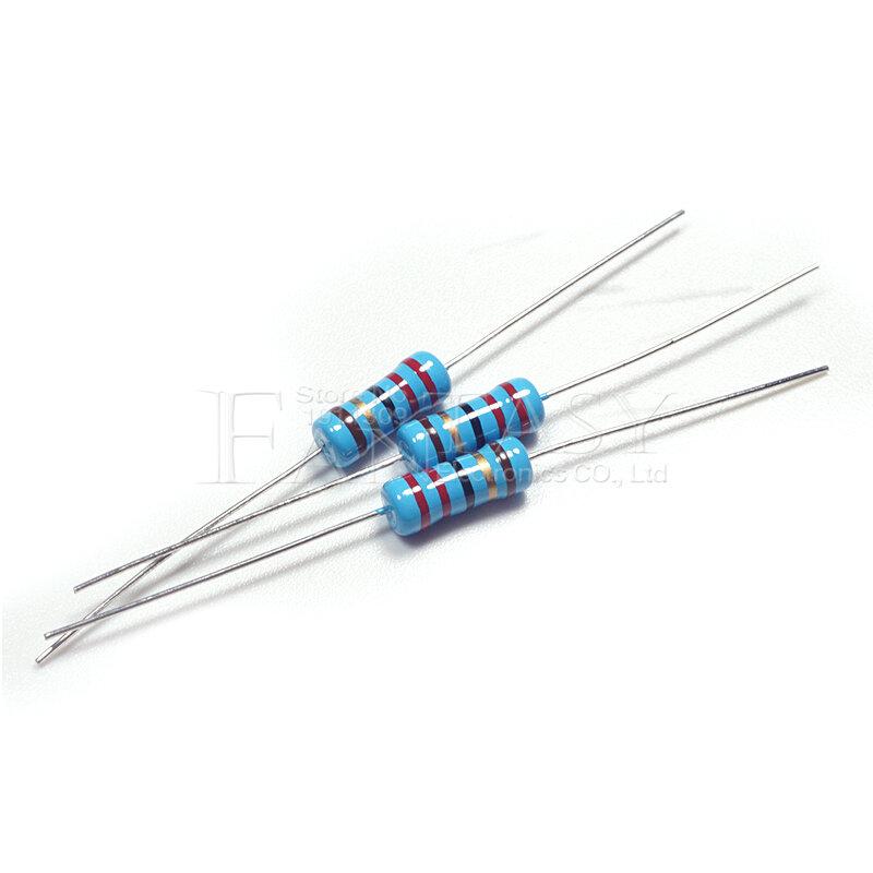 20 piezas 1W resistencia de película de Metal 1% 1R ~ 1M 2R 10R 22R 47R 100R 330R 1K 4,7 K 10K 22K 47K 100K 330K 470K 1 2 10 22 47 100 de 330 ohm