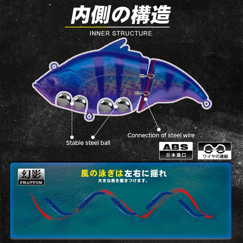 D1ลอย Sinking เหยื่อตกปลา115มม.การสั่นสะเทือน SW Wobblers Lipless Crankbaits VIB เหยื่อ Hard ประดิษฐ์ Tackle สำหรับ Bass Pike