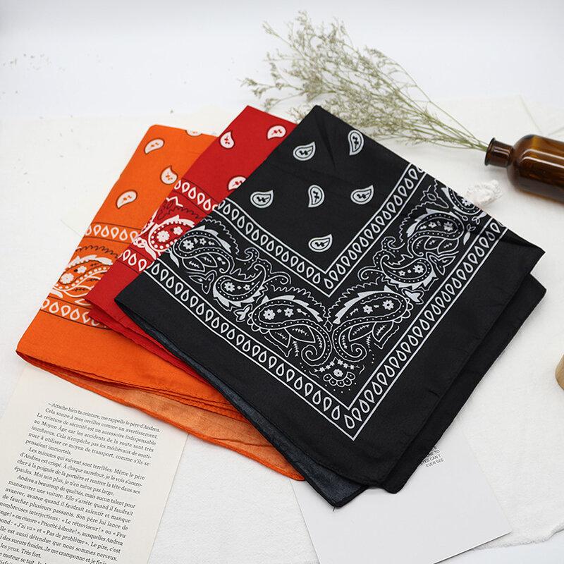 Unisex Bandana kerchief Hip Hop Black Hair Band Neck Scarf Sports Headwear Wrist Wraps Head Square Scarves Print Handkerchief