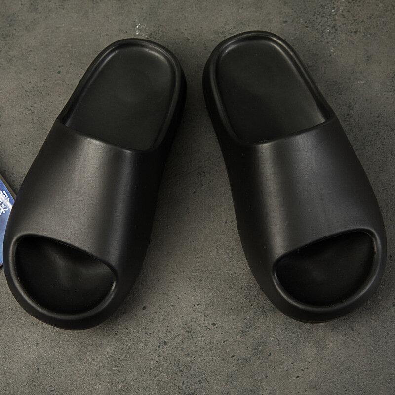 Hommes D'été Glisse Respirant Cool Plage Pantoufles Poisson Bouche Tongs Hommes Sandales Léger D'os Blanc Yzy Grande Taille 36-46