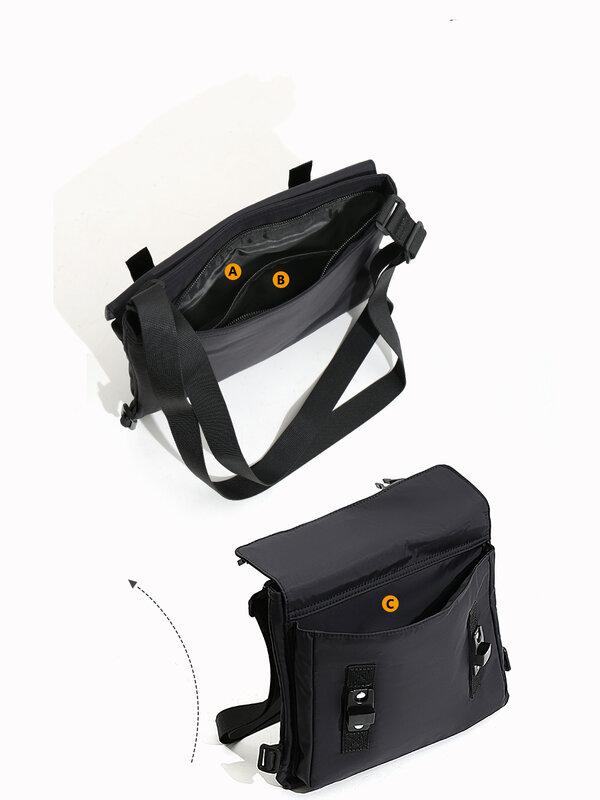 Japanese Style Single Shoulder Bag Unisex Nylon Cloth Crossbody Bag Waterproof Casual Men Bag Fashion Travel Storage Ipad Bag