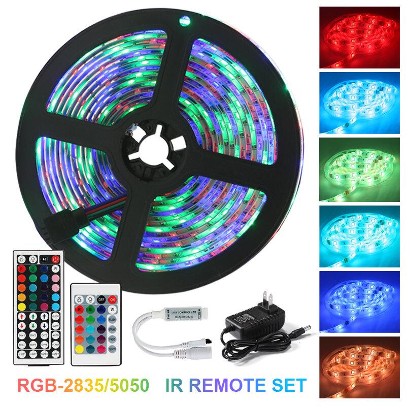 Tira de luces LED 5050SMD con WIFI, RGB, Flexible, bricolaje, diodo de cinta de luz RGB, CC de 12V, iluminación Led con aplicación para teléfono y Bluetooth
