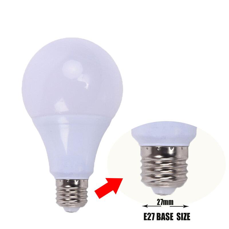 LED 램프 E27 LED 전구 빛 B22 3W 5W 7W 9W 12W 15W 110v 220V 진짜 와트 SMD2835 알루미늄 냉각 높은 밝은 Lampada LED 조명
