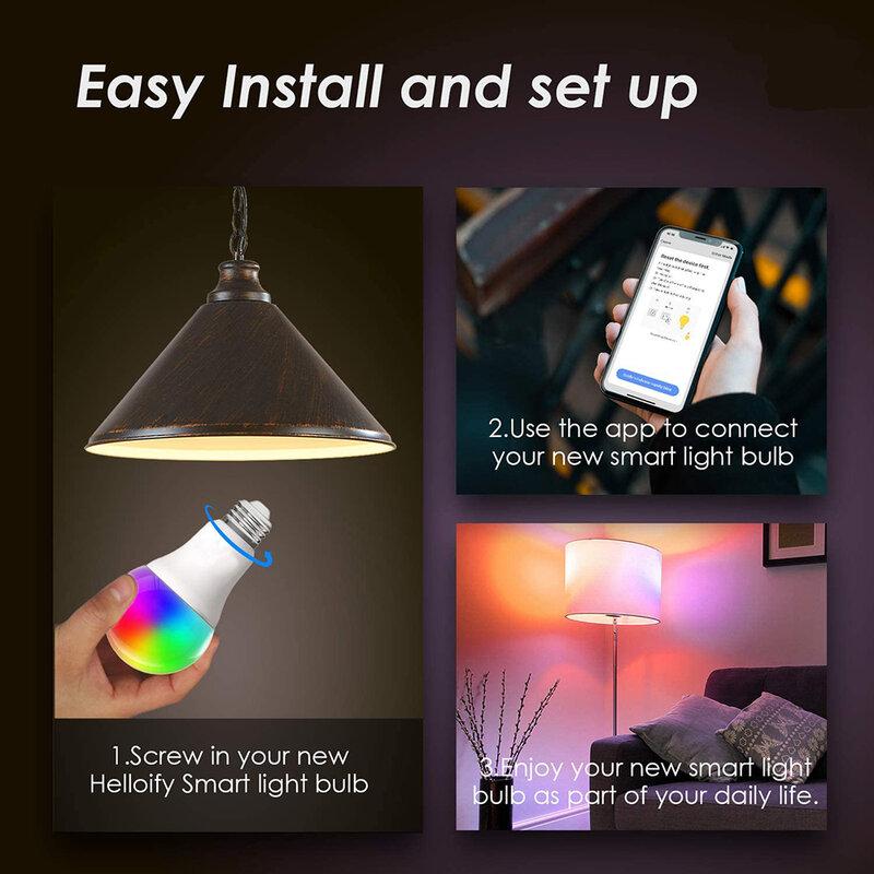 10W/15W Wifi inteligente bombilla LED E27 B22 infrarrojos lámpara de Control remoto o App Tuya Control regulable Alexa Google Android IOS