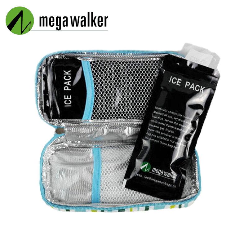 MegaWalke-휴대용 절연 콜린 쿨러 가방, 여행 케이스 쿨러 박스, 볼사 테르미카 600D 알루미늄 호일 아이스 백