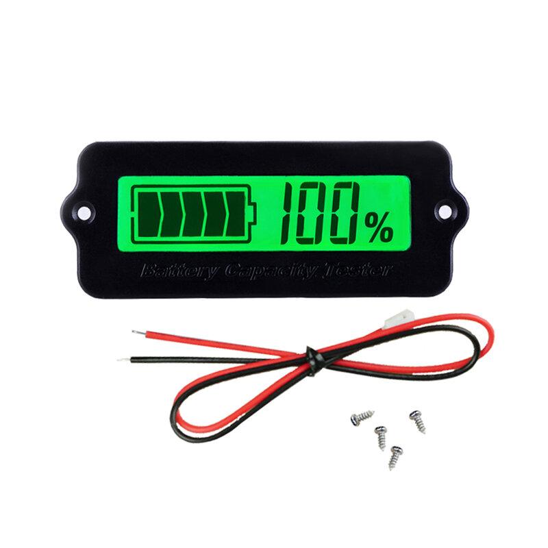 جهاز اختبار قياس الجهد ببطارية الليثيوم 12 فولت 24 فولت 36 فولت LY6W مؤشر قدرة بطارية الرصاص الحمضية شاشة LCD مئوية