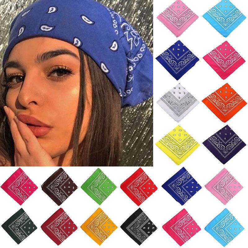 17KM Böhmischen Drucken Bandana Haar Bands für Mädchen Frauen Kinder Unisex Quadratische Schal Turban Stirnband Haar Zubehör