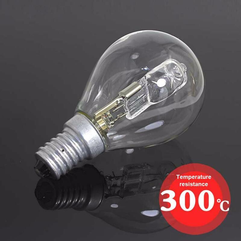Bombilla halógena P45, 42W, E14, 220V, resistente a altas temperaturas, 300 grados, luz para horno, iluminación interior, tornillo E14