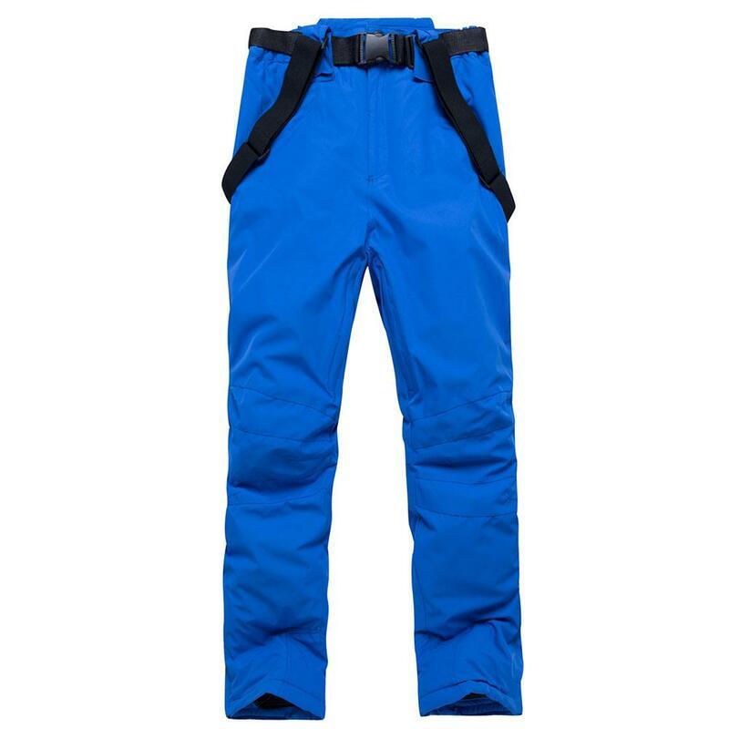 Pantalones De Esquí Al Aire Libre Para Hombre Y Mujer Pantalones De Esquí De Alta Calidad A Prueba De Viento Y Agua Caliente Par De Nieve Invierno Snowboard Pantalones Sin Cinturón