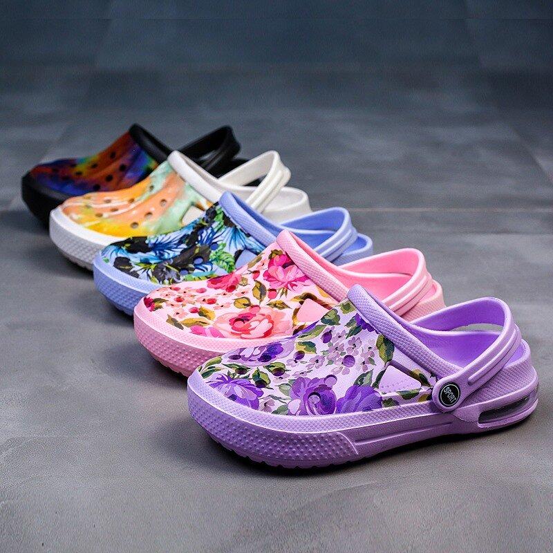 Newbeads Pots Crocse Sandales Trou Chaussures Sandales De Plage Pantoufles Chaussures De Jardin Camouflage D'été Hommes et Femmes Chaussures Décontractées