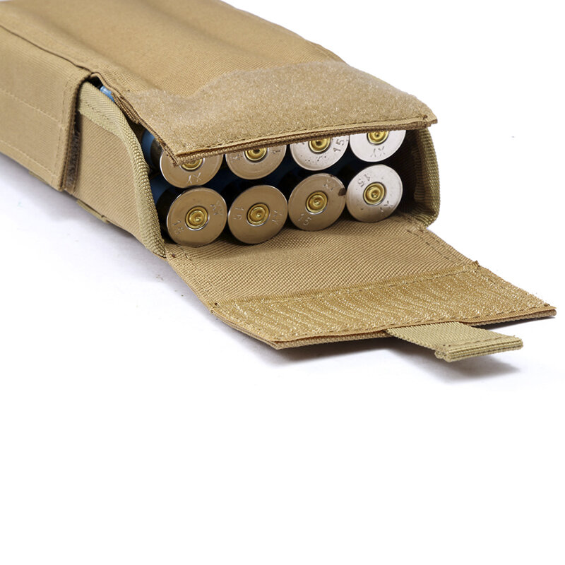 Sacs à munitions de chasse Molle 25 ronde 12GA calibre 12, cartouches de munitions, rechargement de chargeur, pochettes Molle, sac tactique militaire