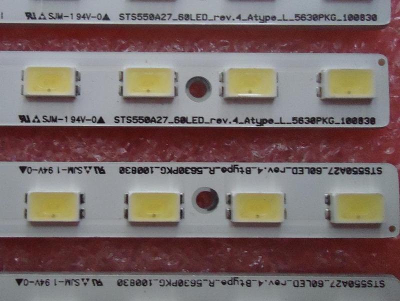 Tira de LED para iluminación trasera que ny 55 pulgadas KDL-55HX72D LJ64-02894A LJ64-02893A STS550A27-60LED-REV.4 1 Uds = 60led 618mm