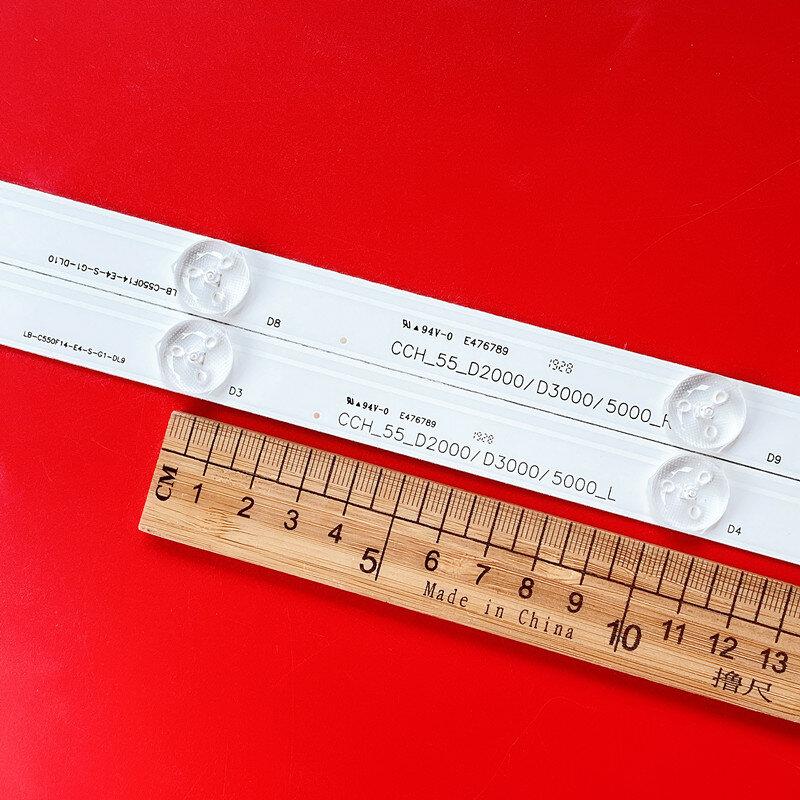Retroiluminación LED tiras LB55061 LB-C550F14-E4-S-G1-SE2 SVJ550AD6 para 55D3000/55D2000 55D3700I LE55A6R9A LU55V809 C550F15-E6-H 5,0