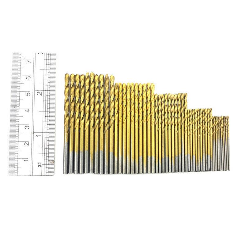 1/1.5/2.0/2.5/3mm 티타늄 코팅 트위스트 드릴 비트 목공 플라스틱 및 알루미늄용 하이 스틸 HSS 드릴 비트 세트