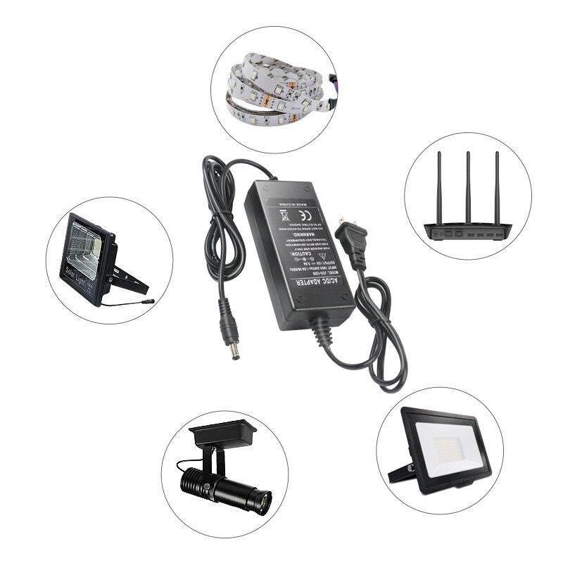 Adaptador de fuente de alimentación 1A 2A 3A 5A 6A 8A, convertidor de transformador de iluminación AC100V -240V a cc 12V, controlador de cargador, tira de luz LED, 1 ud.