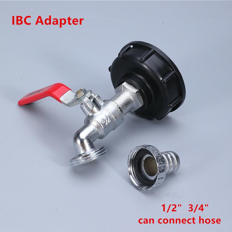 IBC 탱크 합금 탭 어댑터 S60x6 거친 스레드 밸브 피팅 가든 호스 커넥터 교체 금속 드레인 도구