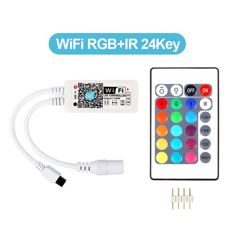 DC12V LED WIFI RGB/RGB Wควบคุมที่มี24keyระยะไกลIOS/Androidโทรศัพท์มือถือไร้สายสำหรับRGB/RGB W LEDแถบ