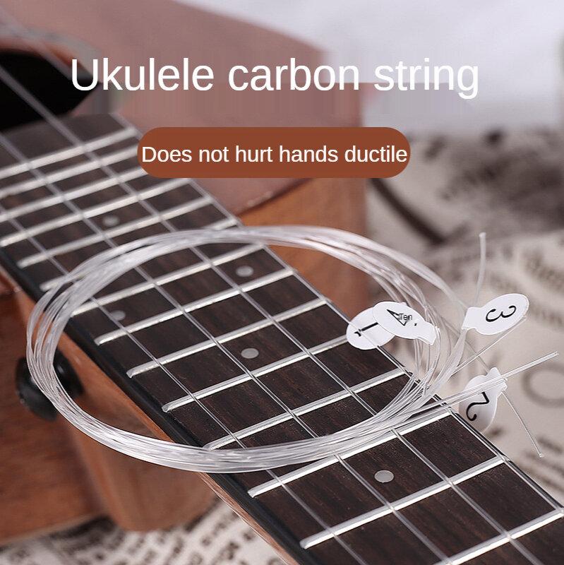 Ukulele Strings 4ชิ้น/เซ็ตสีขาวเปลี่ยนไนลอนสำหรับ21นิ้ว23นิ้ว26นิ้วเครื่องดนตรี
