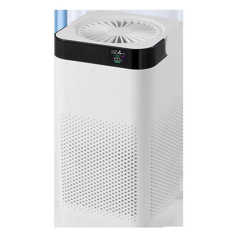 Purificatore d'aria per la casa con filtro Hepa ozonizzatore UV Display a LED digitale generatore di ioni negativi filtro dell'aria da tavolo ricaricabile