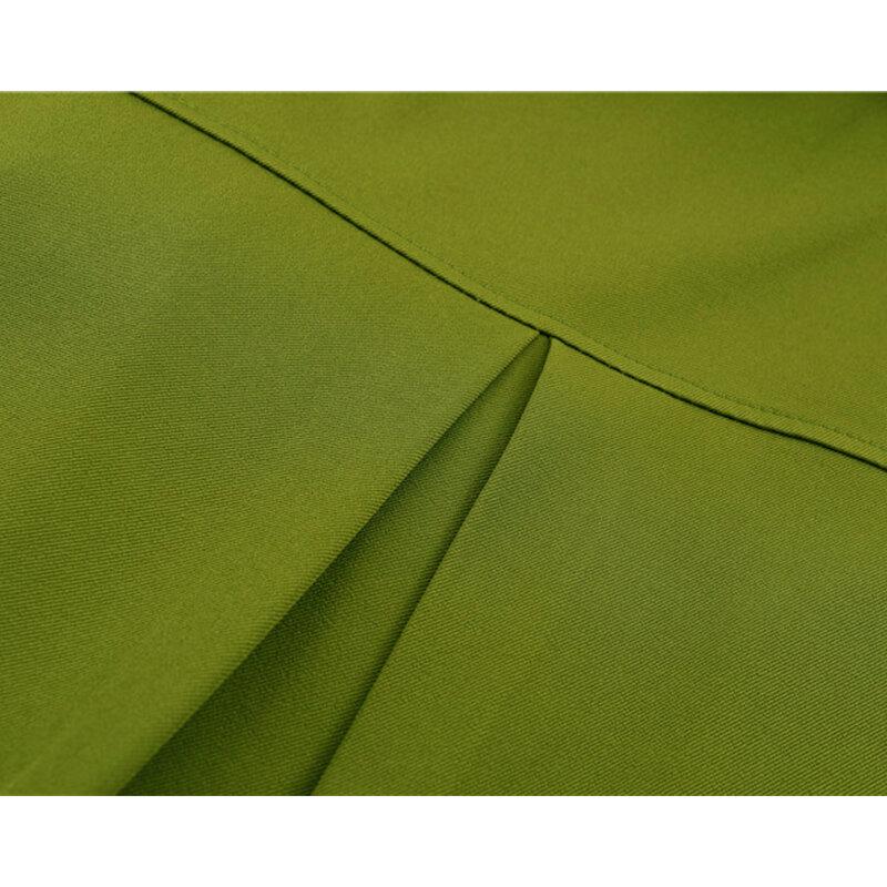 بلوزة نسائية تصميم هاراجوكو أنيق مخطط مزين بأكمام طويلة وياقة واحدة بصدر واحد قمصان فضفاضة قميص خريف 2021 جديد