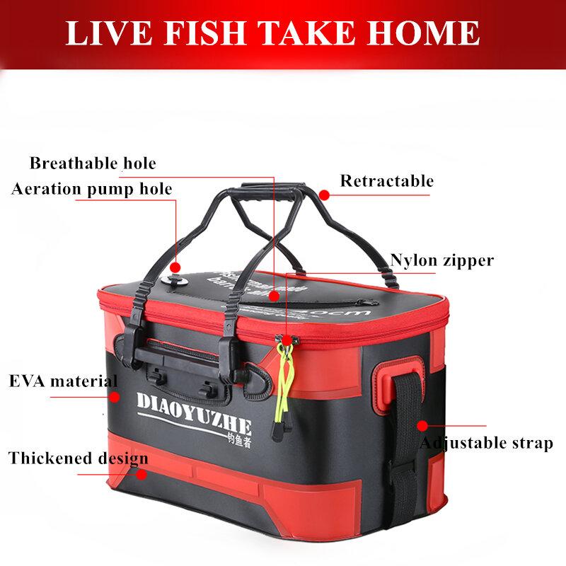 อัพเกรดกระเป๋าตกปลาTackle EVAตกปลาปลากล่องHandกันน้ำกลางแจ้งถังCamping Hikingกระเป๋า