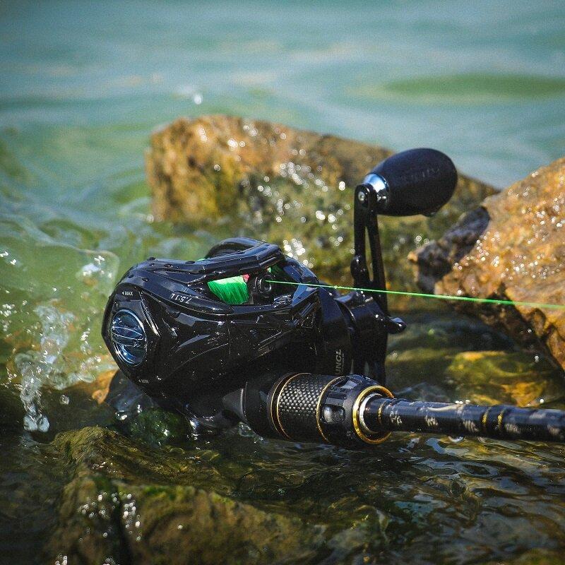 RUNCL Baitcasting ตกปลา Reel REMIEL ลากสูงสุด11กก.7.5:1ความเร็วสูงโลหะ Spool Spinning Reel น้ำเค็ม Reel ปลาคาร์พ Reel Fishing