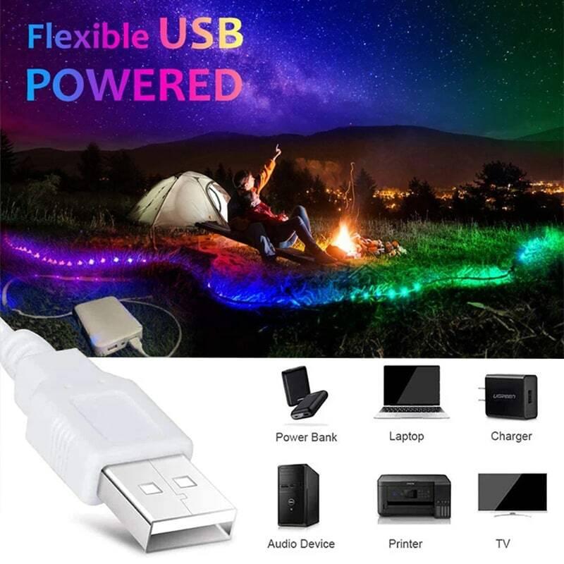 Luz-Led USB 5V 2835 적외선 원격 제어 유연한 램프 리본 다이오드 게이머 스타일 할로윈 크리스마스 소울 할로윈 Luces