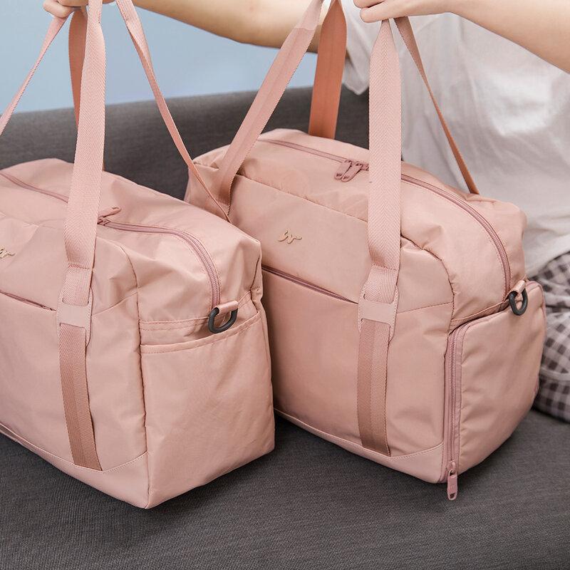 패션 더플 가방 배낭 여성 남성 여행 스포츠 체육관 가방, 신발 구획