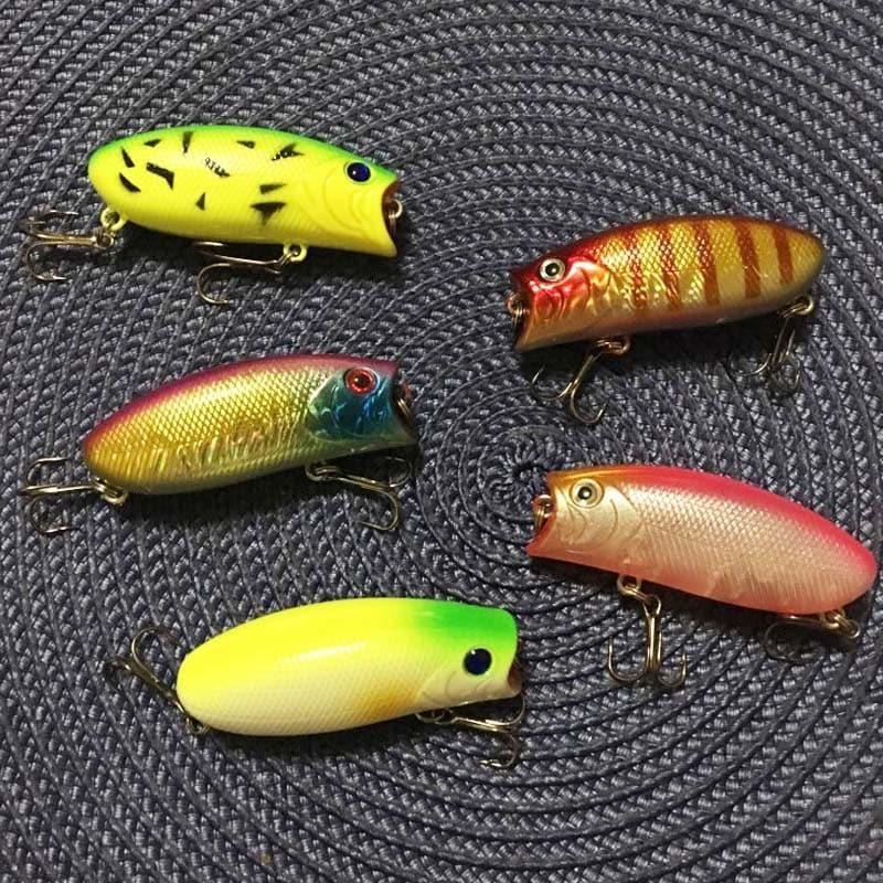 คุณภาพสูง 1PCS 11g/5.5 ซม.Poppers Fishing Lure น้ำ pesca ปลาเหยื่อ wobbler isca ประดิษฐ์ hard เหยื่อ Topwater swimbait