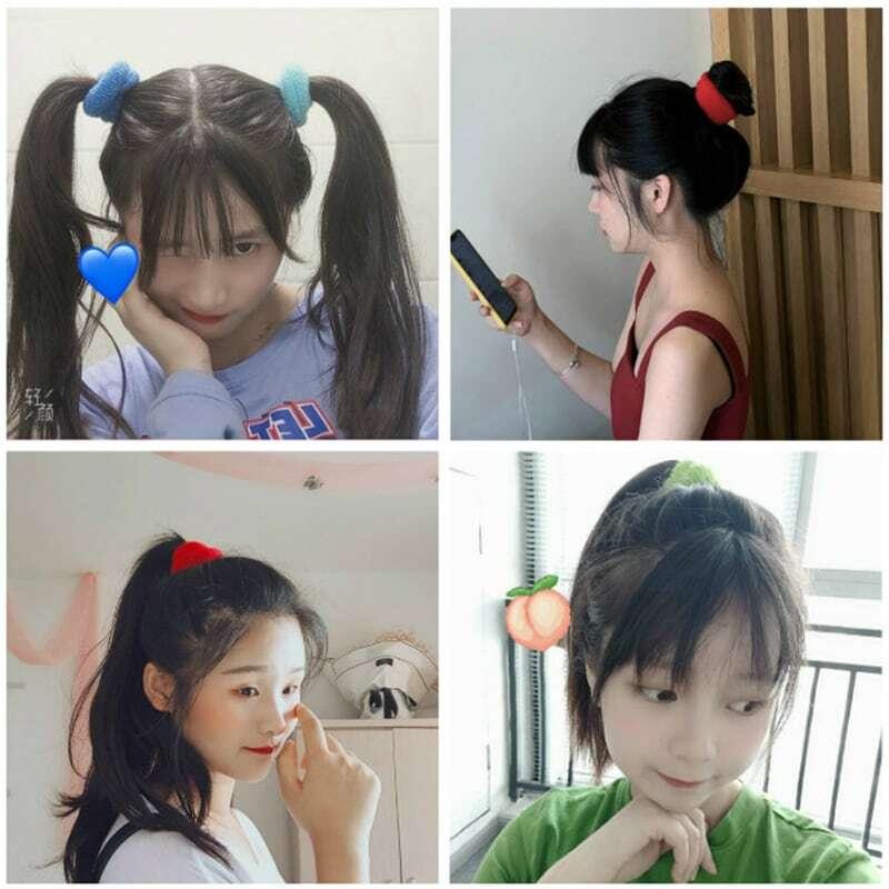 Towel Ring Elastic Hair Ring Hair Elastic Band Student Candy Color Hair Rope Hair Band Head Rope Seamless Hair Accessories