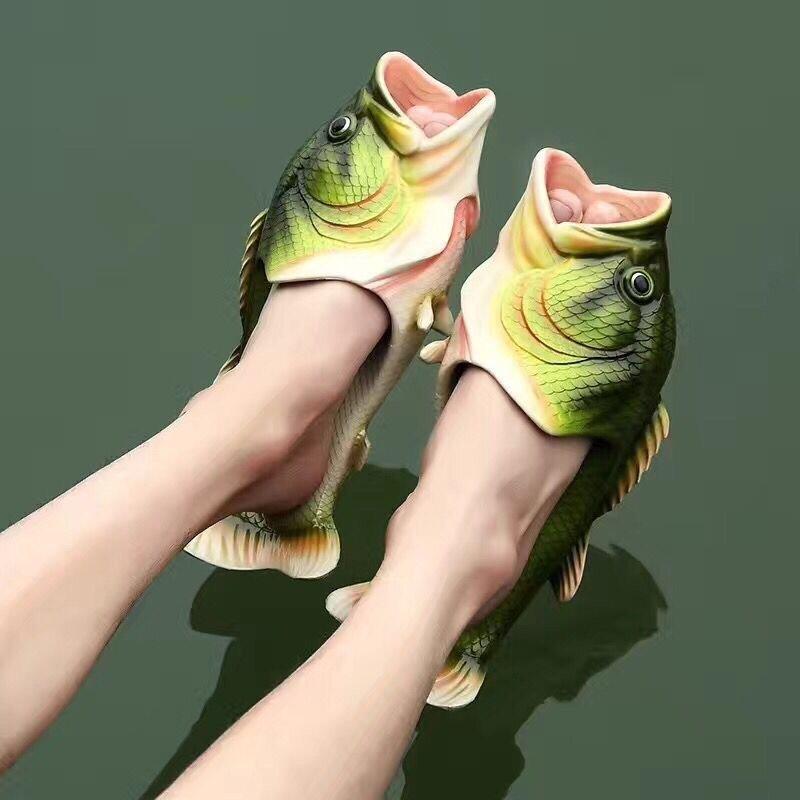 Pantoufles amusantes pour hommes, chaussures de maison de famille, grande taille 33-47, pantoufles de plage d'été unisexes pour garçons, 2021