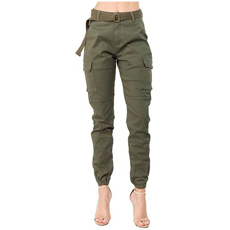 Pantalones Cargo Con Bolsillos Grandes Para Mujer Ropa Informal Suelta De Cintura Alta Pantalones Tacticos Holgados Joggers De Hip Hop Entrega Rapida Pantalones Y Capris