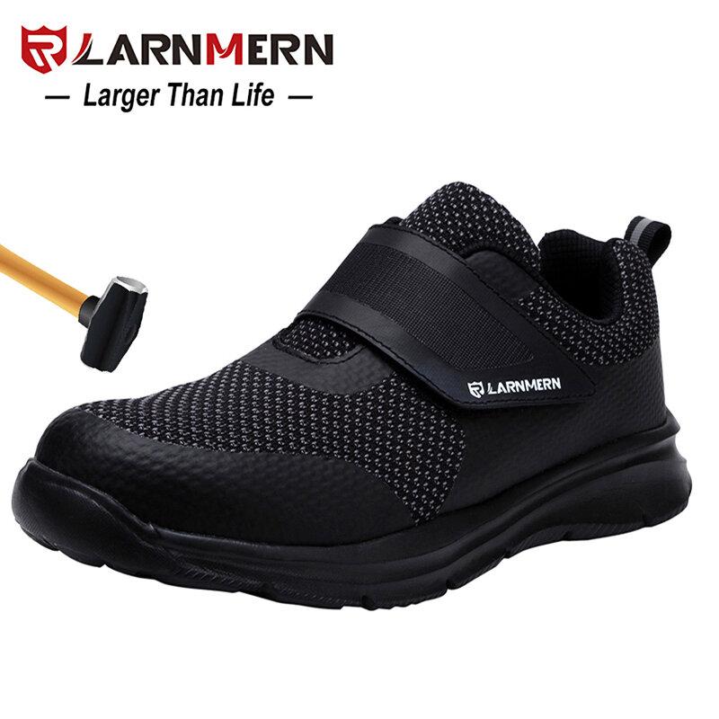 LARNMERN – Chaussures de sécurité en acier pour homme, souliers léger de construction, 3D, antichoc pour le travail