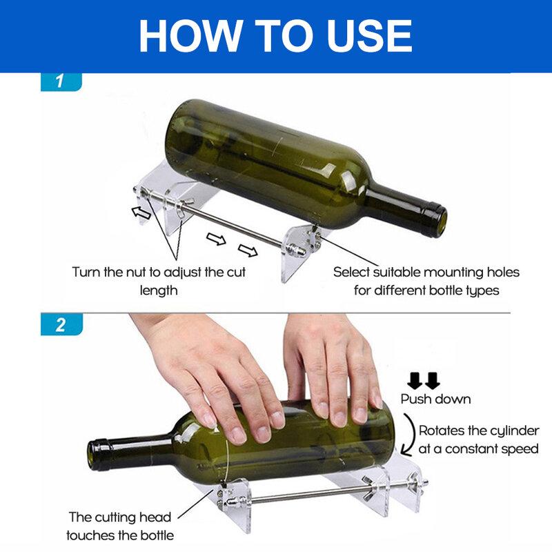 Glas Flasche Cutter DIY Tools für Schneiden Runde Platz Flaschen Flasche cutter für schneiden runde flaschen wohnkultur diy werkzeuge
