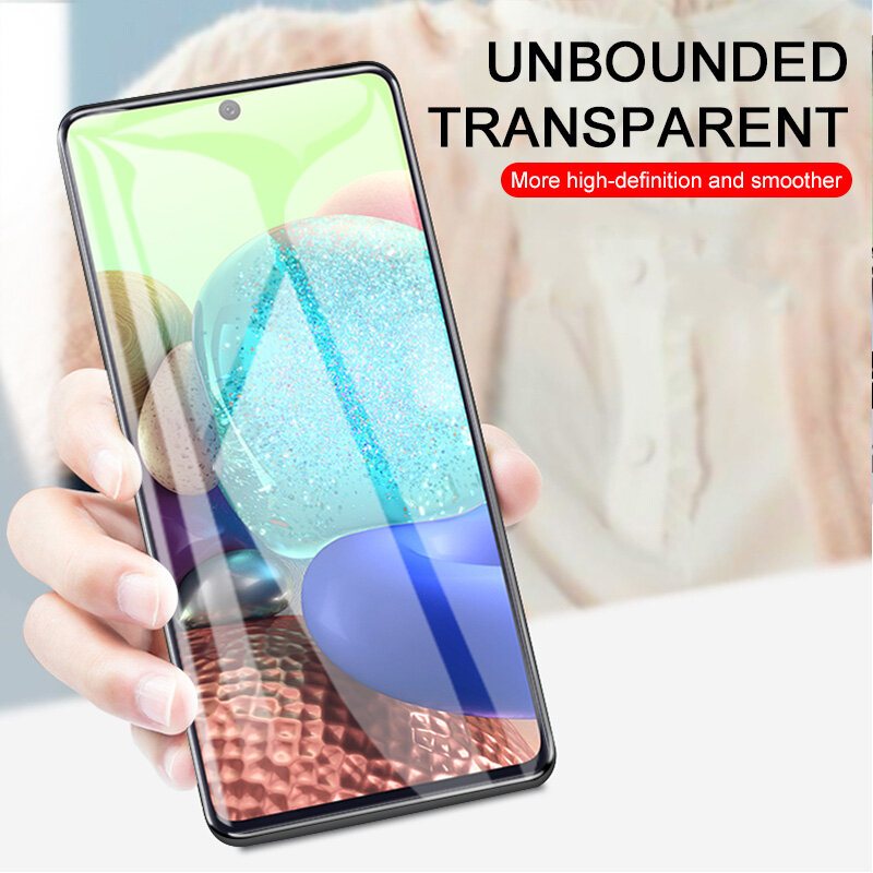 3Pcs Full Cover Tempered Glass For Samsung Galaxy A51 A71 A52 A72 Glass Screen Protector For Samsung A70 A50 A30 A10 A20E Glass
