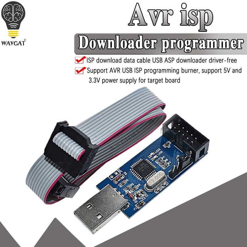 مبرمج WAVGAT USBASP USBISP AVR مزود بمنفذ USB USB ASP ATMEGA8 ATMEGA128 يدعم Win7 64