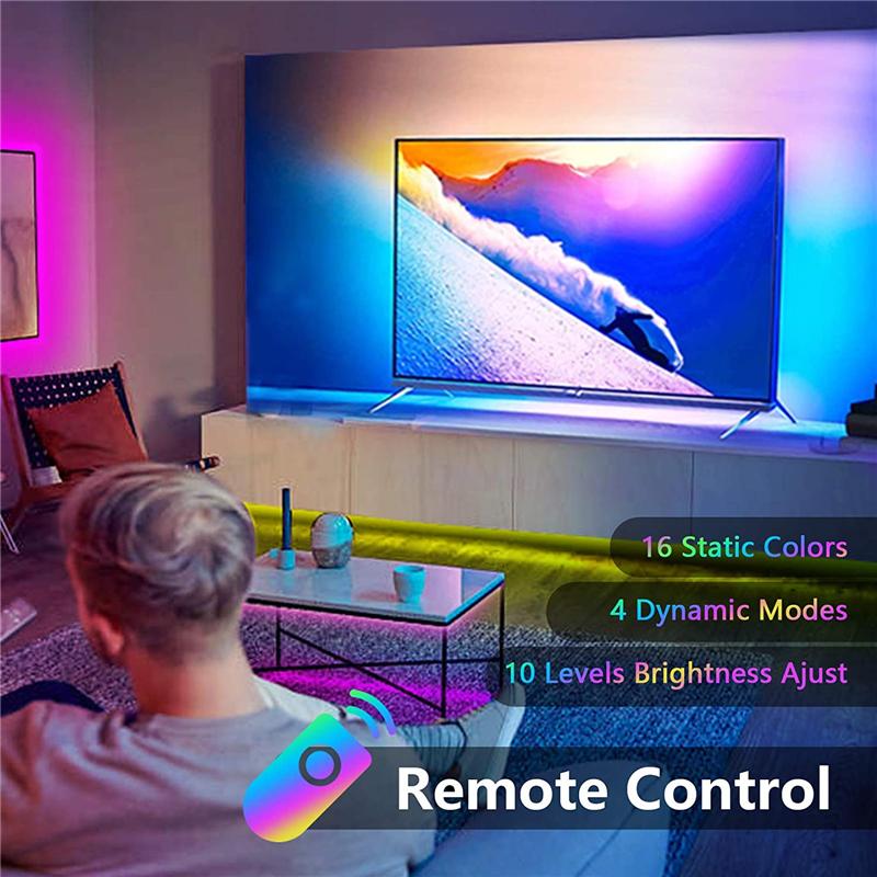 LED 스트립 조명 블루투스 USB 전원 LED 조명 스트립 원격 RGB 2835 색상 변경 LED TV 백라이트 홈 장식