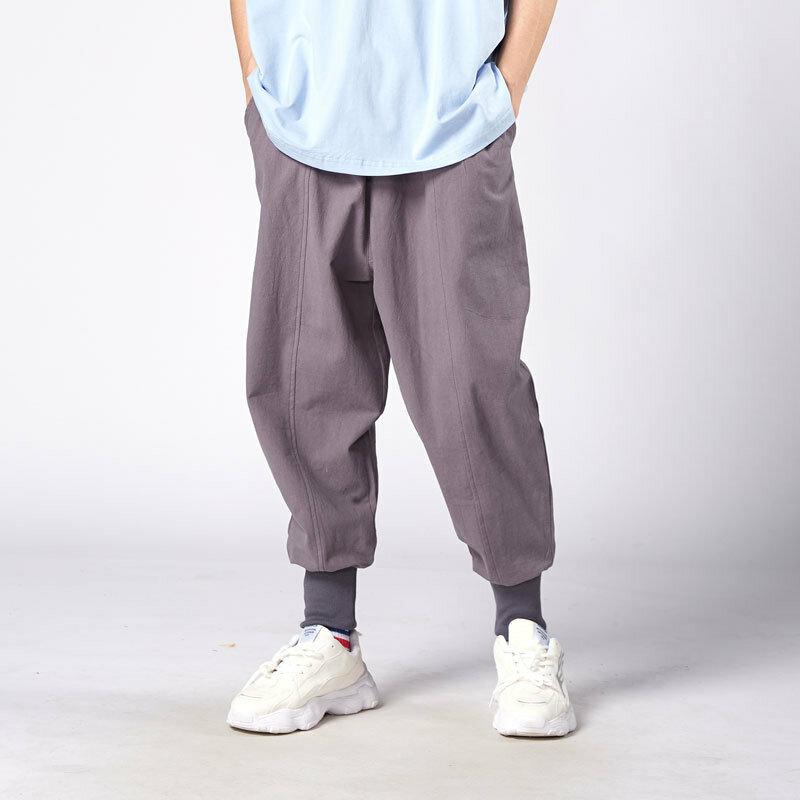 Pantalones Harajuku Harem Para Hombre 2020 Pantalones Casuales De Verano De Algodon Y Lino Pantalones Para Correr Pantalones Para Hombre Estilo Chino Vintage Moda Urbana Pantalones
