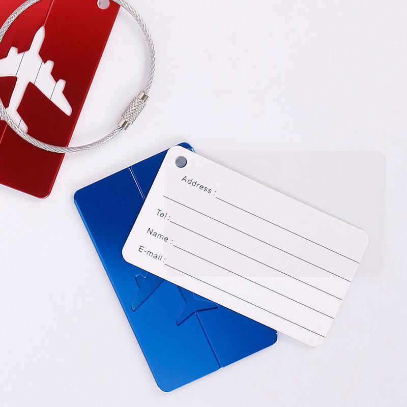 Etiqueta de Metal para equipaje Unisex, accesorios de viaje de alta calidad, soporte de dirección de identificación, etiqueta portátil, 1 ud.