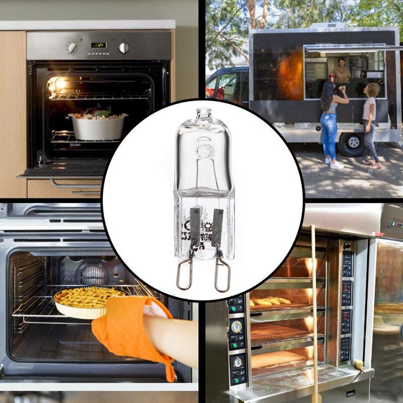 لمبة هالوجين 230-240 فولت ، 25 واط/40 واط ، G9 ، علبة شفافة متجمدة ، مصابيح LED ، ضوء أبيض دافئ للمطبخ المنزلي ، 10 قطعة