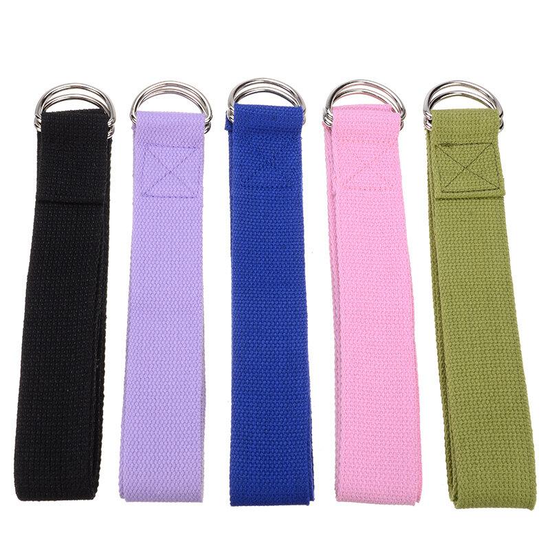 Nouveau multi-couleurs femmes Yoga sangle extensible d-ring ceinture Fitness exercice gymnastique corde Figure taille jambe résistance Fitness bandes coton