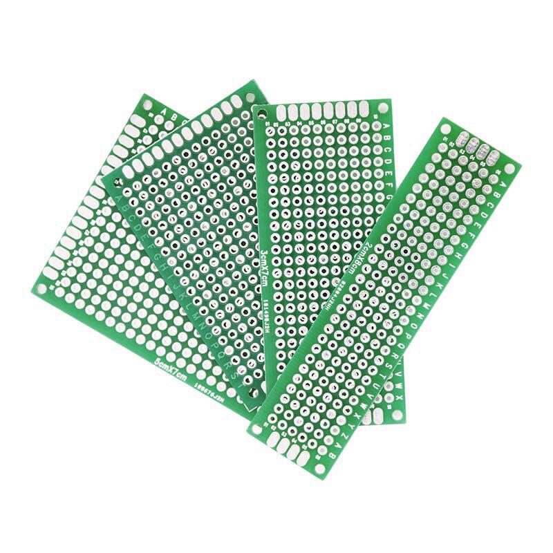 20 pièces/lot 5x7 4x6 3x7 2x8cm Double face Prototype bricolage universel Circuit imprimé carte PCB Protoboard pour Arduino