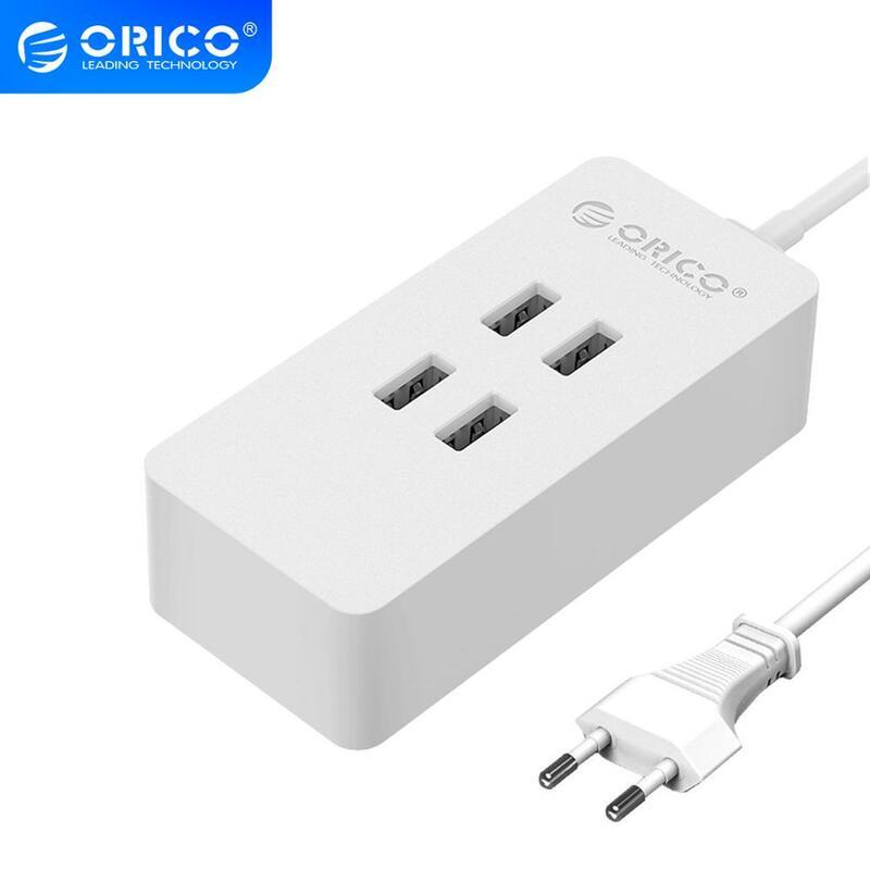ORICO 4 พอร์ต USB Charger Mini สมาร์ทแท่นชาร์จ Station 5V2. 4A * 4 เอาต์พุตสูงสุด 20 W Desktop Charger สำหรับ Smart Phone Pad ชาร์จ