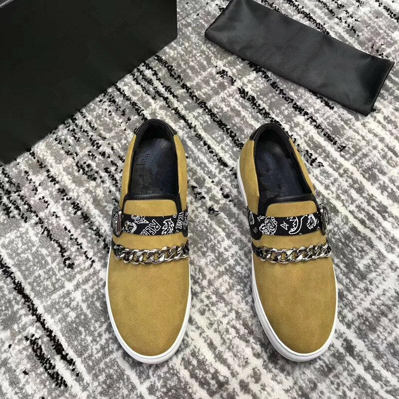 Germuss Casual Shoes Men Fashion Flock Men Casual Shoes High Quality Suede Casual Men Shoes Spring Men Sneakers Plus size 38-46
