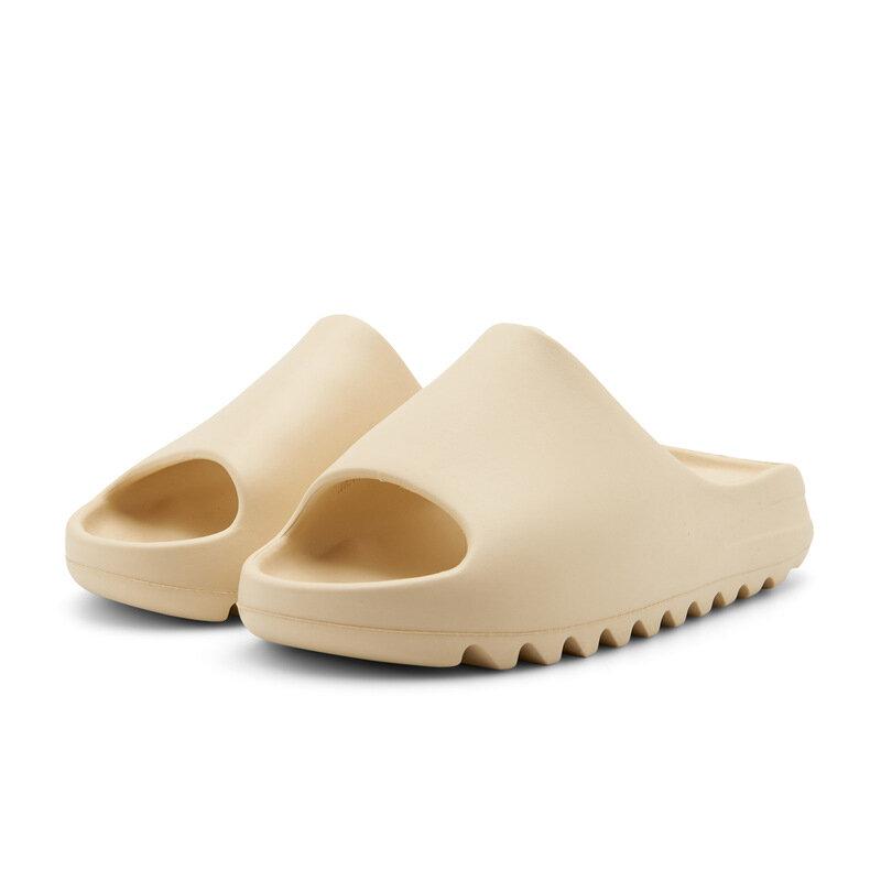 Klapki na lato 2021 kobiety miękkie dno sandały EVA klapki modne Unisex slajdy buty na plażę kryty antypoślizgowe kapcie