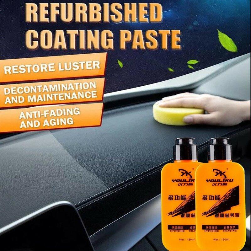자동차 인테리어 자동차 및 가죽 개조 코팅 붙여 넣기 유지 보수 에이전트 reflash 노화 플라스틱 새로 고침 자동차 표면 120ml