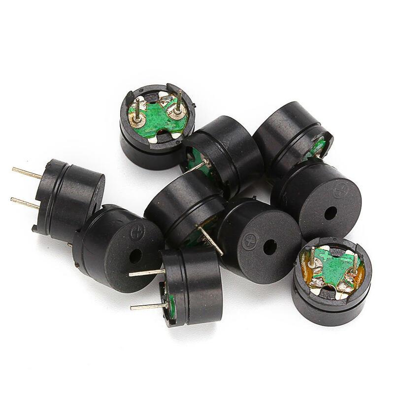 Zumbador pasivo de uso común, Mini zumbadores piezoeléctricos para Arduino, bricolaje, AC 12MM x 8,5 MM 12085 42R, resistencia 3V 5V 9V 12V, 10 Uds.